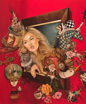 Rosana Largo Rodríguez - Beyond Reality Oil on Canvas, Paintings