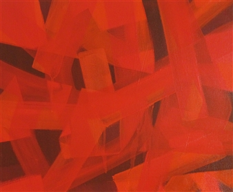 Akihito Izumi - Composition-10 Oil on Canvas, Paintings