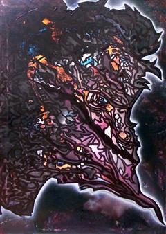 Henrik Sjöström (El Bastardo) - Lilith Acrylic & Spraypaint on Canvas, Paintings