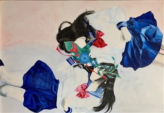 Atsushi Imai - Line of Love and Love No.2 Colored Pencil on Paper, Drawings