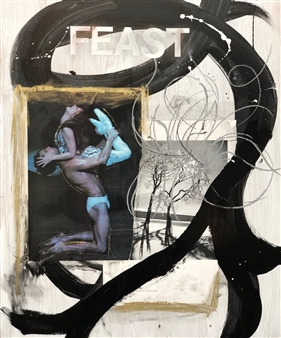 William Atkinson - Through Fruition Mixed Media & Collage on Board, Mixed Media