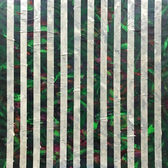 Chadwick Arcinue - Bamboo Forest II Acrylic on Canvas, Paintings