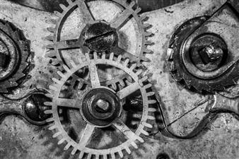 Paris Gray - Clockworks Photograph on Fine Art Paper, Photography