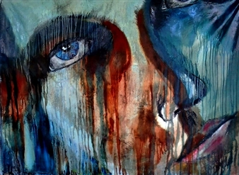 Luisa Vicente Isola - Rostro II Acrylic on Canvas, Paintings