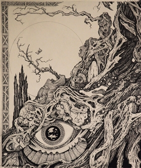 Michael Livolsi - Eye's Mind Pen on Paper, Drawings