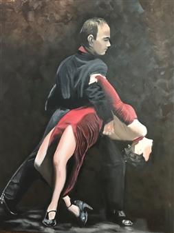 Silvia Mónica Giammatteo - Noche de Tango Oil on Canvas, Paintings