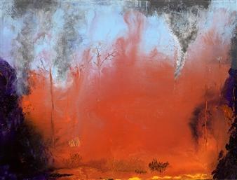 Jodi DeCrenza - Wildfires Acrylic on Canvas, Paintings