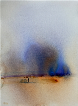 Rine Philbin - A New Dawn Watercolor on Paper, Paintings