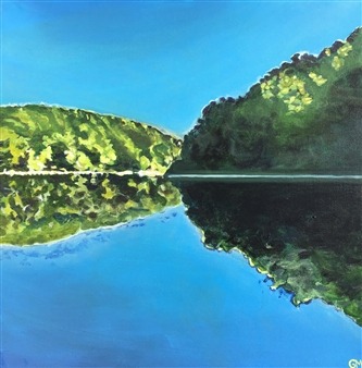 Gabriella Mirabelli - Black Rock Summer Acrylic on Canvas, Paintings