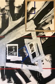 William Atkinson - My Boundary Does Not Move Mixed Media on Canvas, Mixed Media