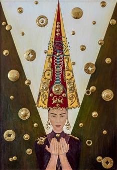 Aigerim Bektayeva - Bata Mixed Media on Canvas, Mixed Media
