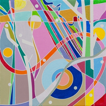 Ai-Wen Wu Kratz - New Find / No.1 Acrylic on Canvas, Paintings
