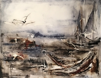 Dana Ingesson - Soon the Stars Will Shine Watercolor on Paper, Paintings