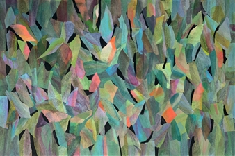 Ellen Globokar - My Last Year's Friends Together Collage on Canvas, Mixed Media