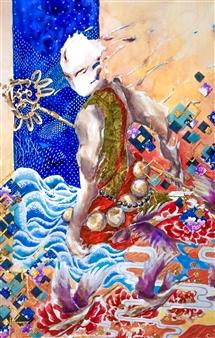 Xiao daCunha - Journey Inward Mixed Media on Canvas, Mixed Media
