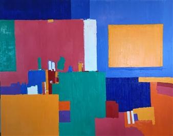 Mario España - Composition III Oil on Canvas, Paintings