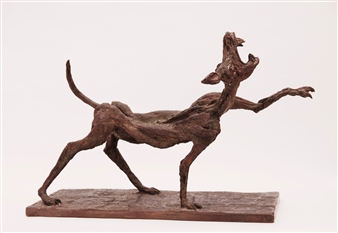 Emil Silberman - The Wolf Bronze, Sculpture