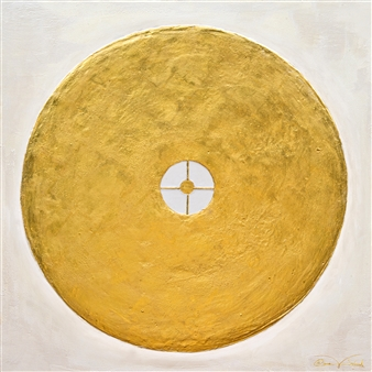 Diana Wunsch - Planet Mars / Power of Determination 24 Karat Gold & Acrylic on Canvas, Mixed Media