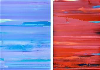 Gui Calil - Céu pelo Clima + Inferno pela Companhia / Sky for Weather + Hell for the company Acrylic on Canvas, Paintings