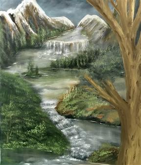 Tsila Mackay - Wonderful Day Oil on Canvas, Paintings