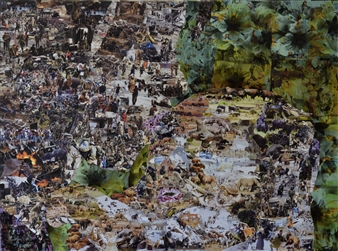 Chad Thompson - Nurture Acrylic & Collage on Canvas, Mixed Media