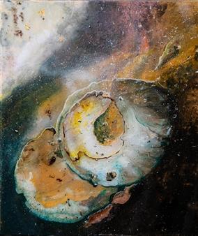 Charlotte De Baere - Astral Traveling Acrylic & Mixed Media on Canvas, Mixed Media