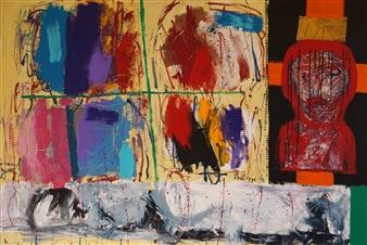 Philippe Thélin - Lazarus Acrylic on Canvas, Paintings
