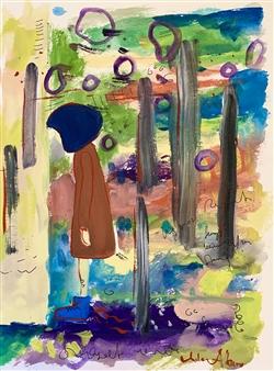 Milana Alaro - Shame Gouche on Paper, Paintings