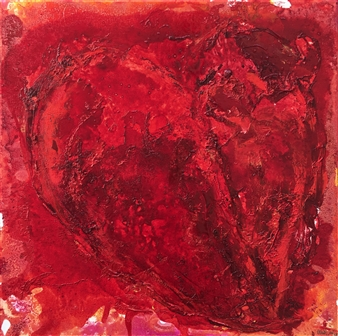 Mehdi Oveisi - Heart VIII Mixed Media on Canvas, Mixed Media