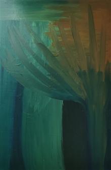 Eduardo Vidal - Bamboo in the Wind Acrylic on Canvas, Paintings