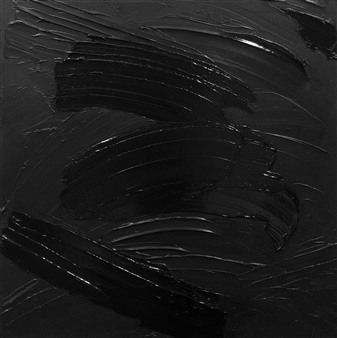 Chadwick Arcinue - Colorscapes: Black Study 1 Acrylic on Canvas, Paintings