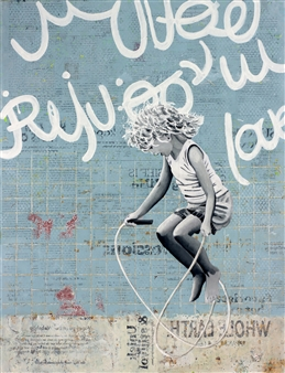 db Waterman - Freestyler Acrylic & Collage on Paper, Mixed Media