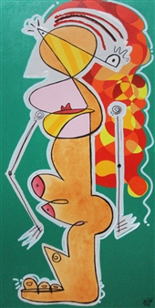 Linco7n. - Friends And Lovers Acrylic on Canvas, Paintings