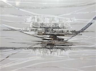 Graciela Garza - Inner Reflections Acrylic & Encaustic on Canvas, Mixed Media