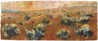 Frances Hatch - Garden of the Halmyrides Acrylic & Mixed Media on Archival Paper, Mixed Media