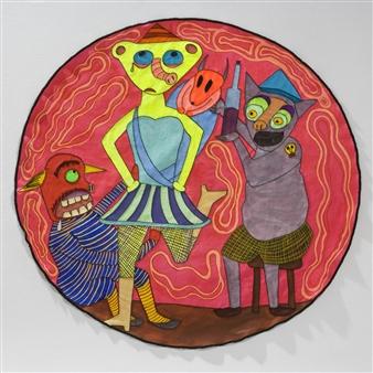 Paula Sayago Lundin - Decay Mixed Media on Fabric, Mixed Media