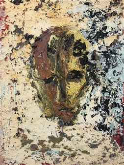 John Kingerlee - Head II Oil on Board, Paintings