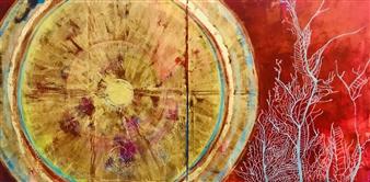 Grażyna Aneta Ochowiak - Gate of Plenty, diptych Acrylic & Mixed Media on Canvas, Mixed Media