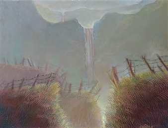 Gilberto Arriaza - Paisaje Poético Oil on Canvas, Paintings