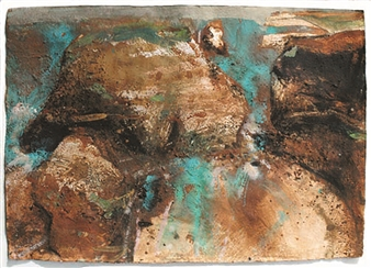 Frances Hatch - Ladram Red Mixed Media on Archival Paper, Mixed Media