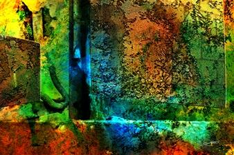 Frédérique Négrié - Iridescence 1 Digital Painting on Aluminum, Digital Art