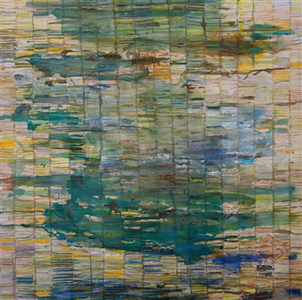 Fleur Cowgill - Butrint: Codex Encaustic & Oil on Canvas, Paintings