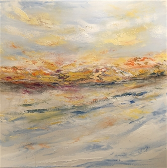 Christiane Palpant - Engaging The Full Spectrum Oil on Canvas, Paintings