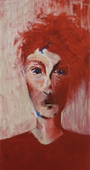 Laura Pretto Vargas - I See Red Acrylic on Canvas, Paintings
