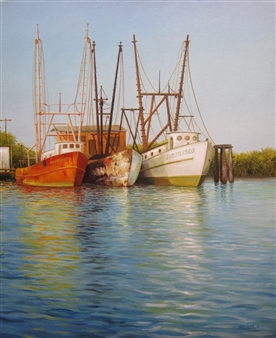 Gilberto Arriaza - Bahia de Jiquilisco Oil on Canvas, Paintings