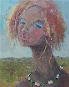 Becky Sungja Kim - Clover Chain Oil on Canvas, Paintings