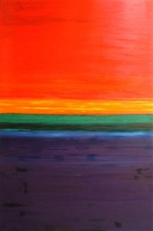 Mario España - Daybreak Oil on Canvas, Paintings