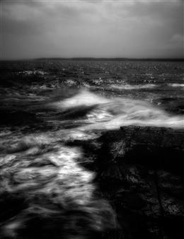 Chet B. Simpson - Darkness Falls On Cape Neddick Black & White Digital Photography on Hahnemuhle Cotton Paper, Photography