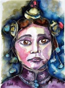 Clara de Bobes - Tíbet Aquatint & Oil Pastel on Paper, Paintings