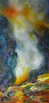 Caroline Degroiselle - Surge of a Mysterious Dancer Acrylic on Canvas, Paintings